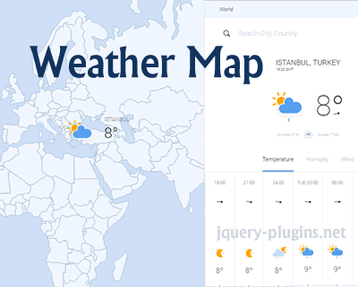 Weather Map – Beautiful, Dynamically-Updated, Searchable Maps with Javascript