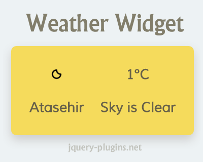 Weather Widget with OpenWeatherMap API | jQuery Plugins