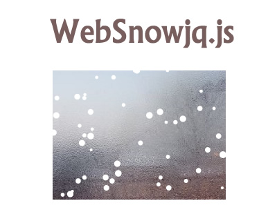 WebSnowjq.js – Snow Fall Effect with HTML5 and Javascript