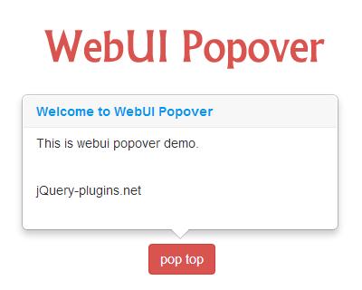 WebUI Popover – Lightweight jQuery Popover Plugin