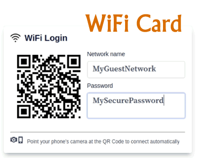 WiFi Card – Print QR Code for Connecting to Your WiFi