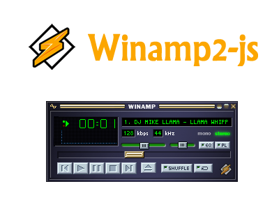 Winamp2-js – Reimplementation of Winamp with HTML5 and Javascript