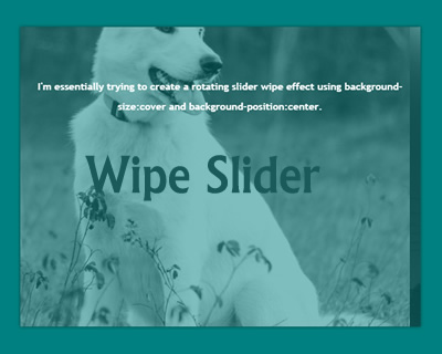 Wipe Slider – jQuery Rotating Slider with Wipe Effect