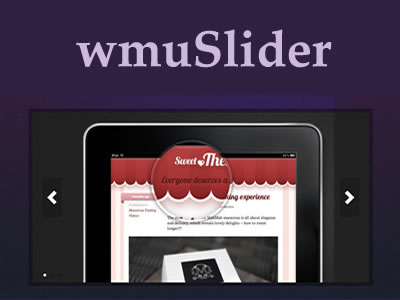 wmuSlider – jQuery Responsive Slider with Touch Support