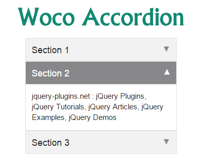Woco Accordion – User Friendly and Lightweight jQuery Accordion