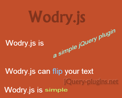 Wodry.js – jQuery Plugin for Text Flipping/Rotating