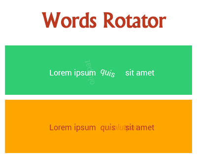 Words Rotator – Simple Text Elements Rotator Plugin
