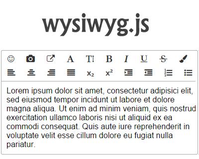 wysiwyg.js – Lightweight WYSIWYG Editor