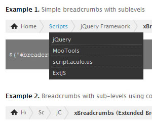 xBreadcrumbs jQuery Plugin