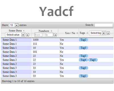 Yadcf – Yet Another DataTables Column Filter