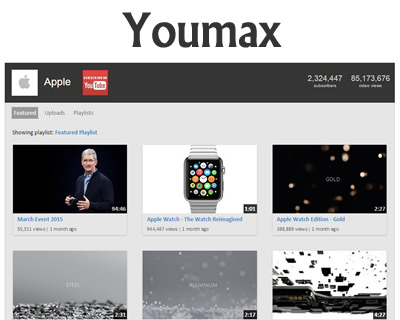 Youmax – Complete Youtube Channel on your Website
