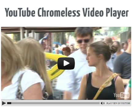YouTube Chromeless Video Player jQuery Plugin