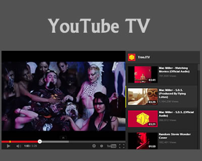 YouTube TV – YouTube User/Playlist Player jQuery Plugin