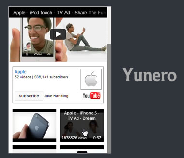 Yunero – jQuery Plugin for Displaying YouTube Video Feed