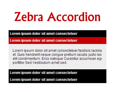 Zebra_Accordion – Tiny Accordion jQuery Plugin
