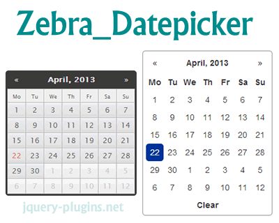 Zebra_Datepicker – Lightweight and Configurable jQuery Date