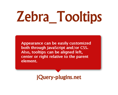 Zebra_Tooltips – Lightweight and Configurable jQuery Tooltip Plugin