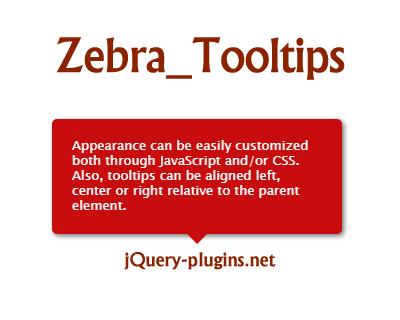 Zebra_Tooltips – Lightweight and Configurable jQuery Tooltip Plugin