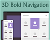 3D Bold Navigation with CSS and jQuery