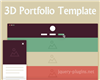 3D Portfolio Template with CSS and jQuery