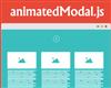 animatedModal.js – jQuery Plugin for Fullscreen Modal with CSS3