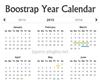 Boostrap Year Calendar