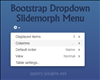 Bootstrap Dropdown Slidemorph Menu