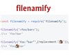 filenamify – Convert String to Valid Safe Filename