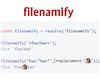 filenamify – Convert String to Valid Safe Filename