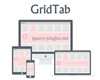 GridTab – Grid Based Responsive Tabs with jQuery