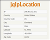 jqIpLocation jQuery IP Location Plugin