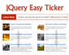 jQuery Easy Ticker