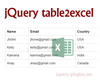 jQuery table2excel – Export HTML Table to Excel