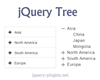 jQuery Tree Plugin with Bootstrap and Material Design
