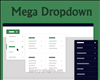 Mega Dropdown with CSS and jQuery